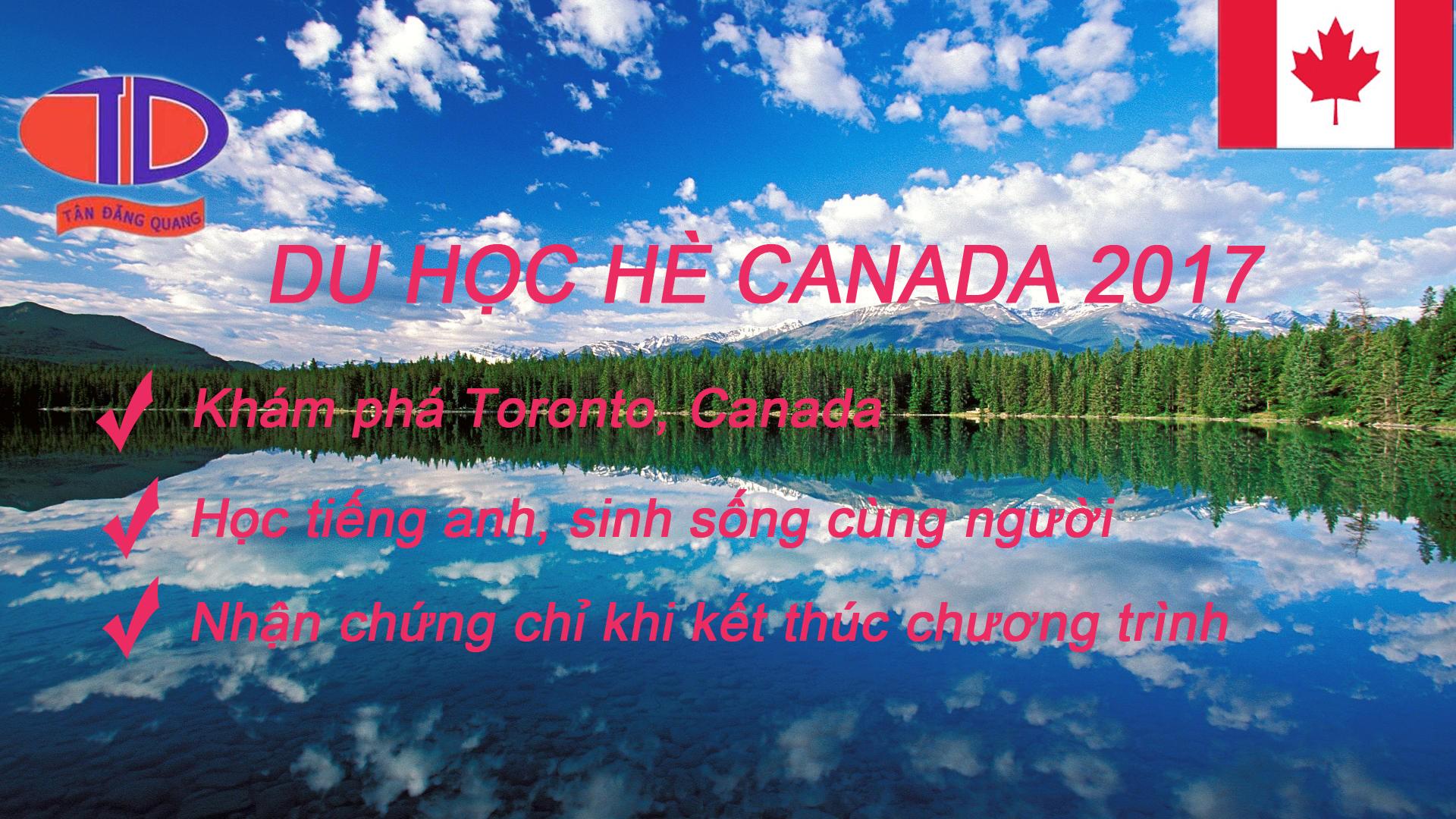 Chương Trình Du Học Hè Canada 2017